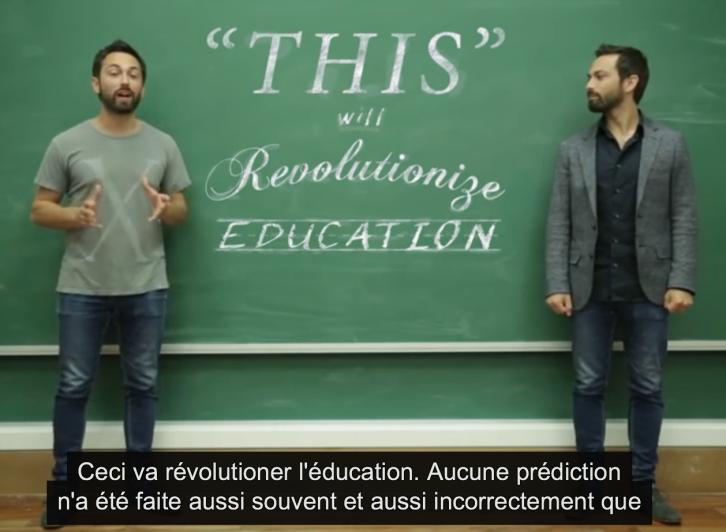 La révolution techno-cyclique de l'éducation