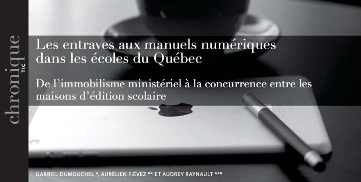 Les entraves aux manuels numériques dans les écoles du Québec
